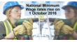 New National Minimum Wage rates from 1 October